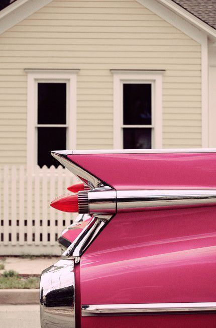 Because I like retro cars and pink color