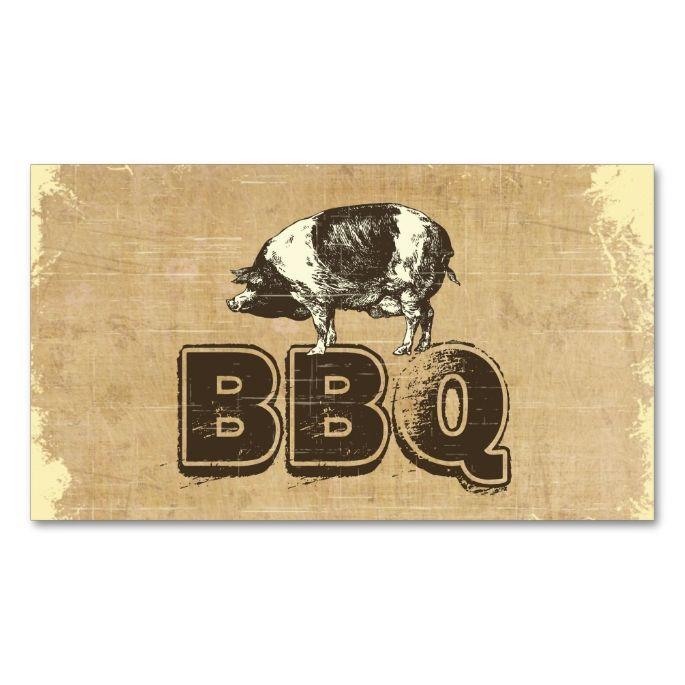 Vintage Bbq Pork Business Card Zazzle Com Bbq Pork Business