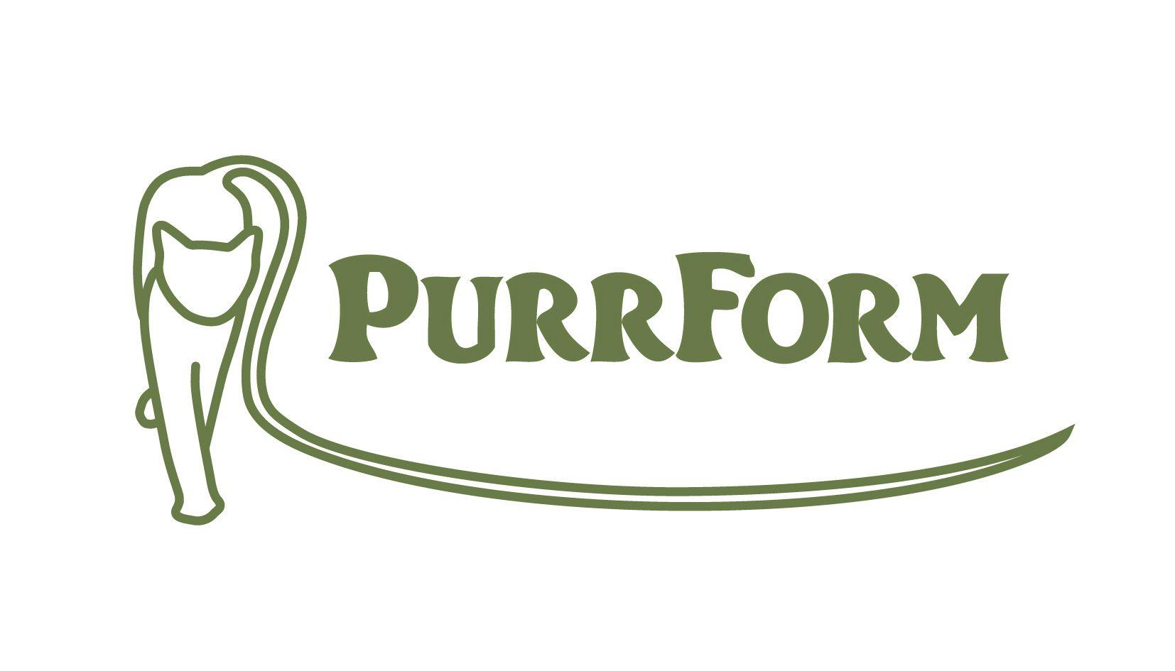 logo, nourriture pour chat purrform.uk