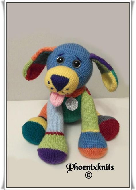 Jacobthemulticolouredpuppy1 Knitted Toys Pinterest Knitted