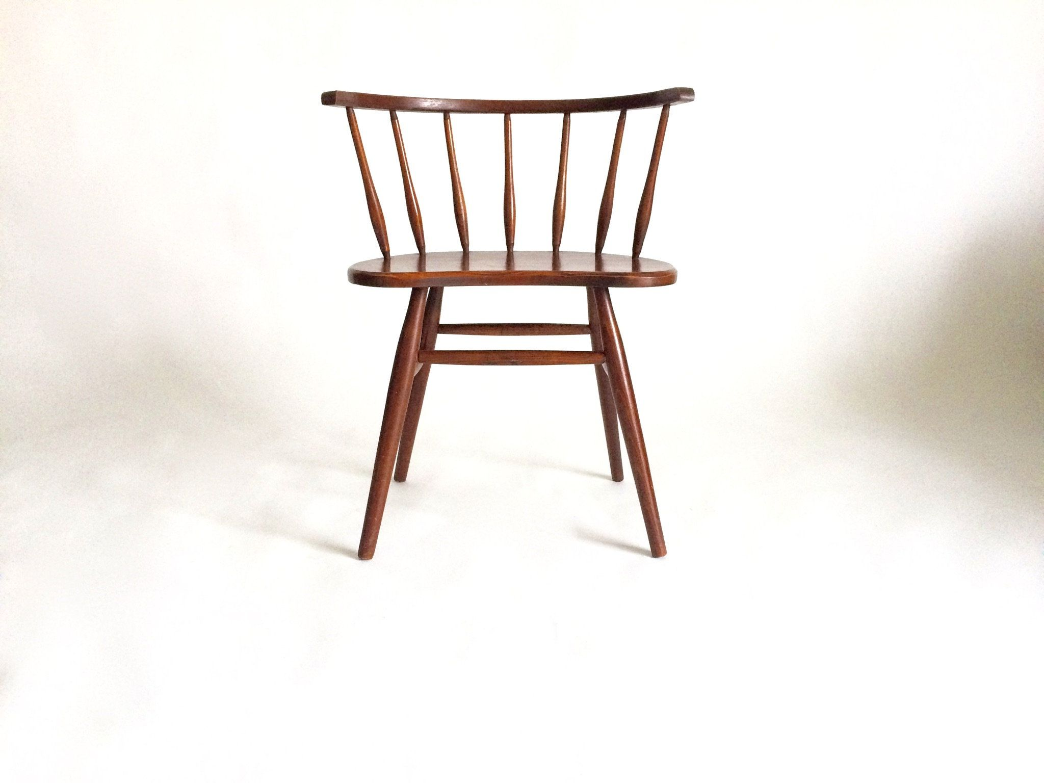 Vintage Mid Century Wood Spindle Chair Danish Modern By Patinadetroit On Etsy Danish Modern Chairs Spindle Chair Chair
