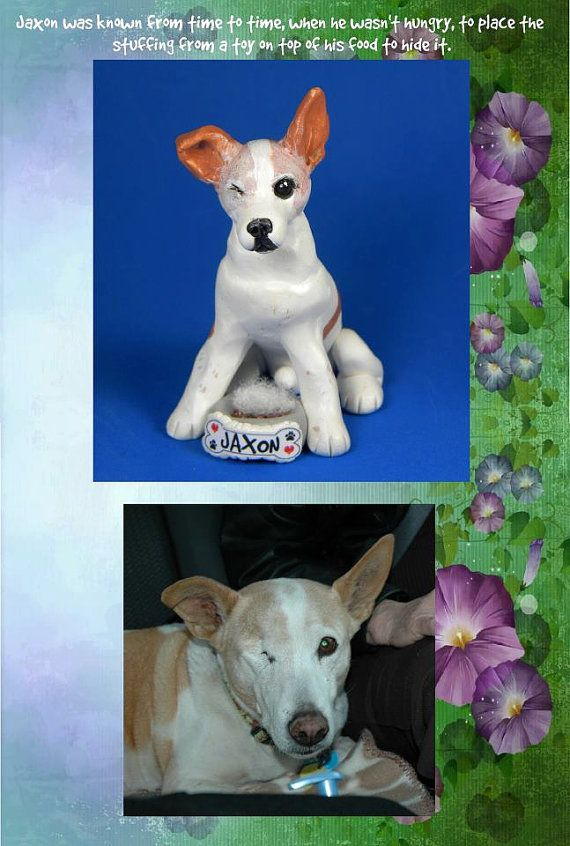 Custom Pet Dog Cat with name on food dish OOAK by sallysbitsofclay, $45.00