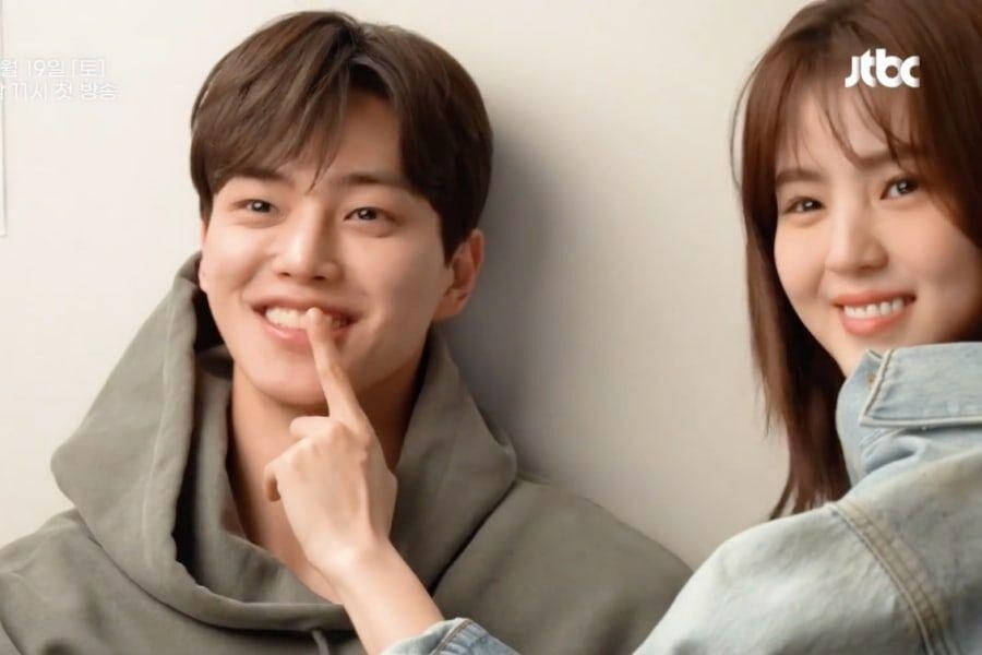 """Watch: Song Kang And Han So Hee Can't Stop Laughing Behind The Scenes Of """"Nevertheless"""""""