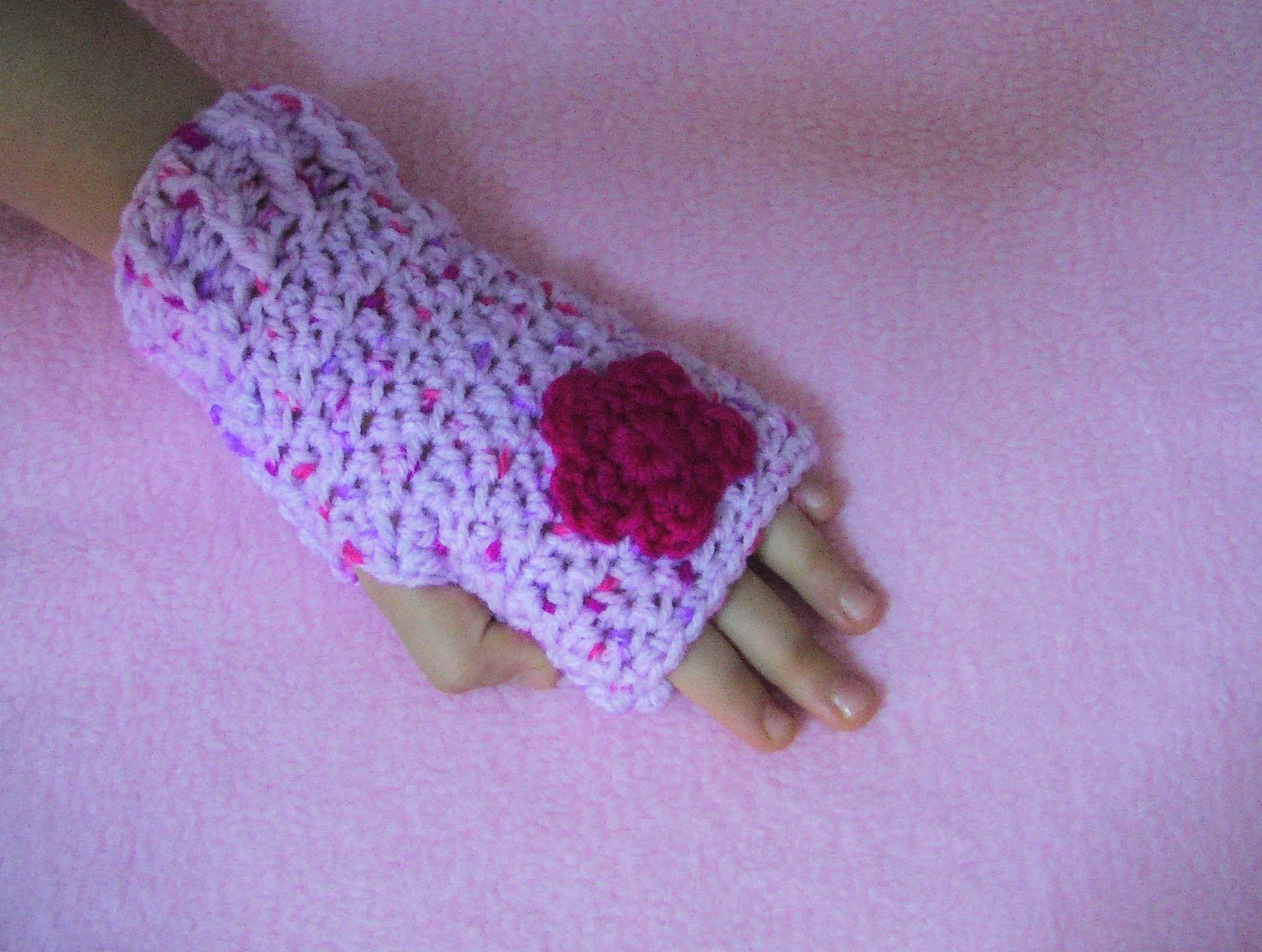 Πλεκτα Γαντια με Βελονακι (χωρις δαχτυλα)   Crochet Fingerless Gloves Tu. f3f19e305cd