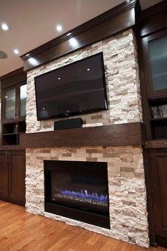 Tv Over Fireplace Fireplace Tv Idea In 2019 Fireplace Wall Farmhouse Fireplace