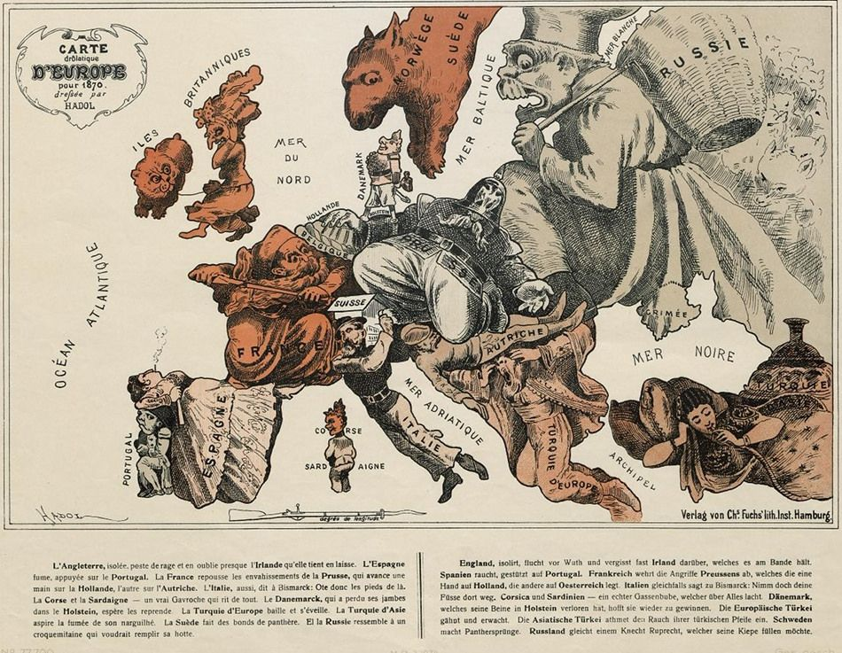 Cartoon Map of Europe in 1914 | History | Map, Old maps ...