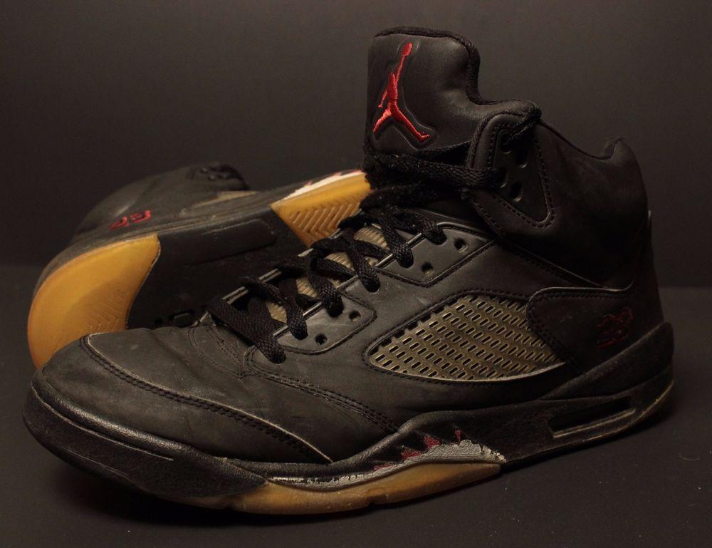 save off 34ddb 8caf1 Nike Air Jordan V 5 Retro Raging Bull Toro Shoes Sz 11 Black 3M 136027 061  Mens  Nike  AthleticSneakers