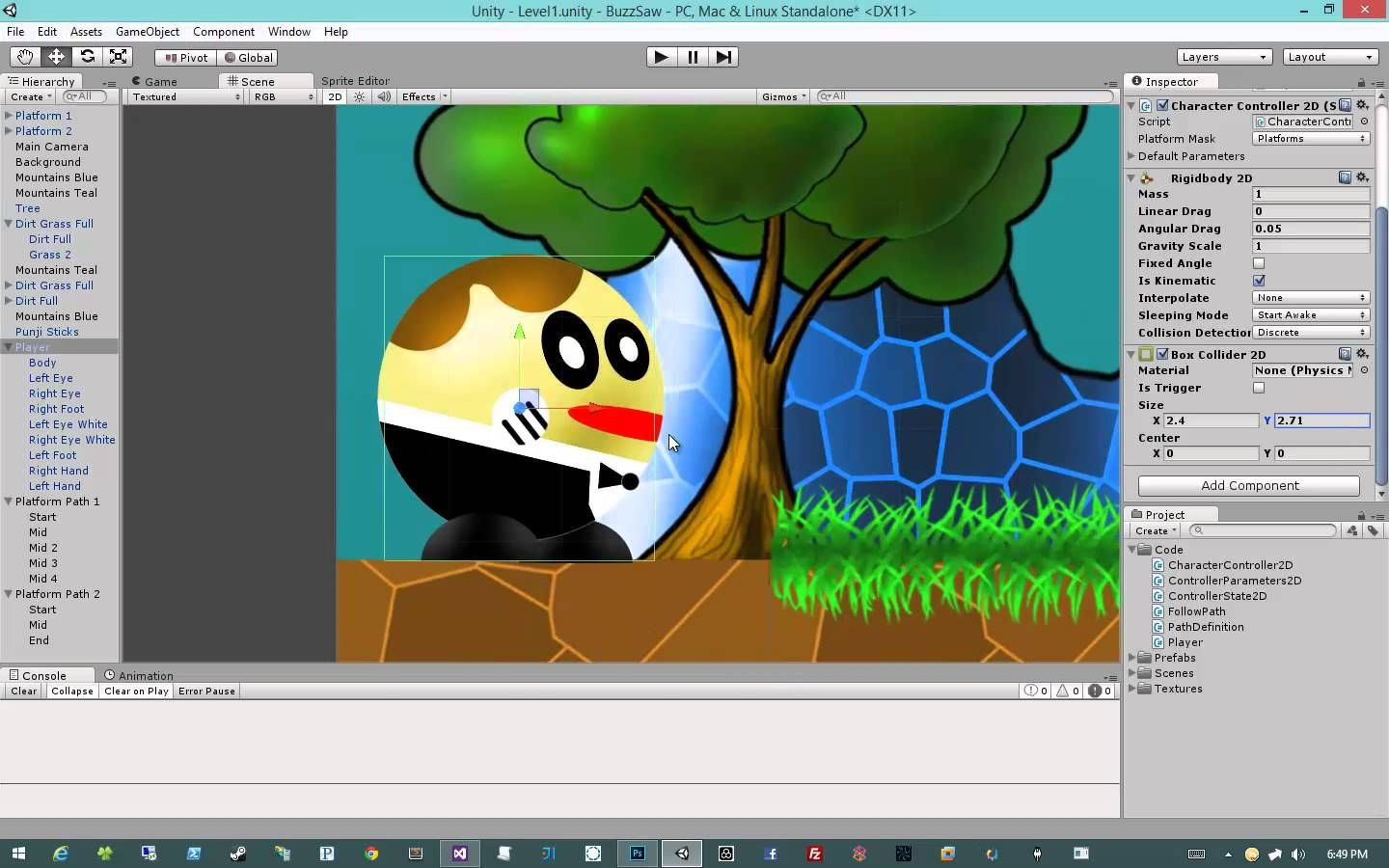 Creating 2D Games in Unity 4 5 #6 - Character Controller #2