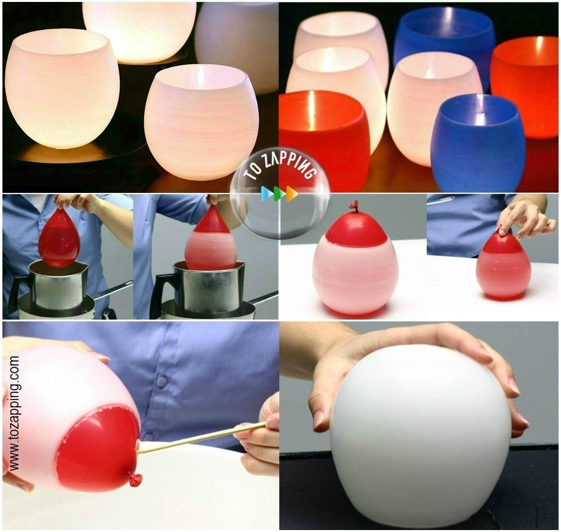 Portavelas hechos con globos globoflexia pinterest - Manualidades para decorar el hogar paso a paso ...
