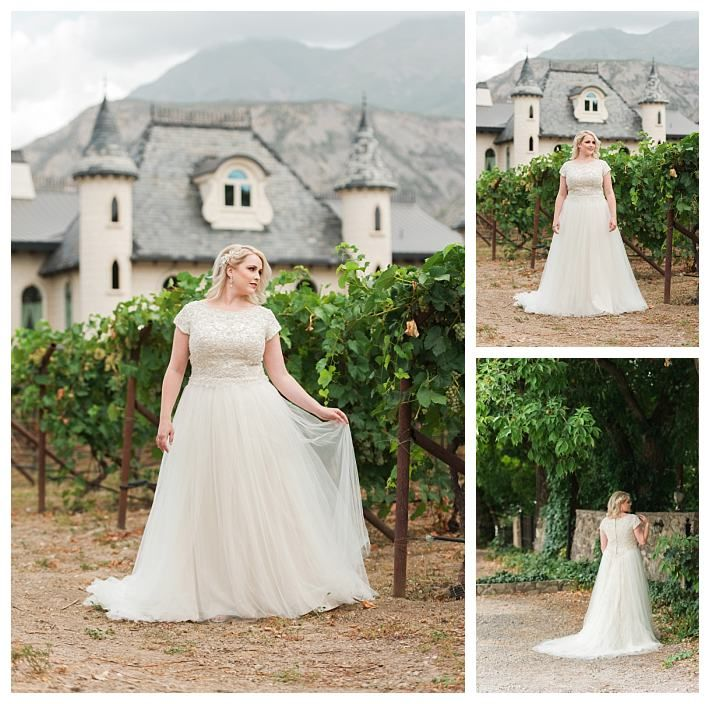 Modest plus size wedding dress by LatterDayBride, the Cosette ...