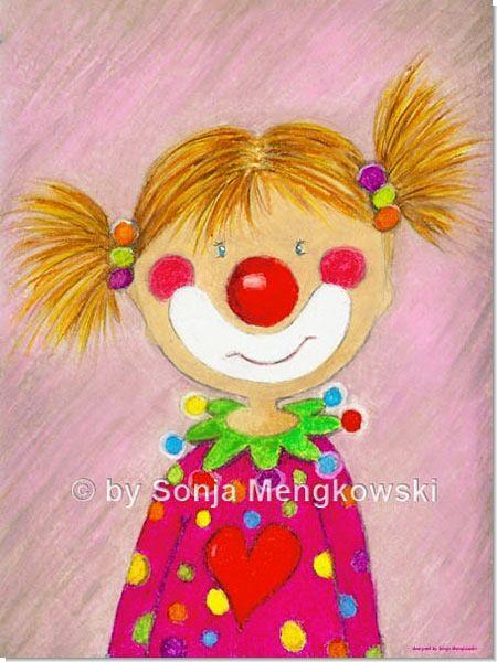Kinderzimmer Bild Pepina das kleine Clown Mädchen