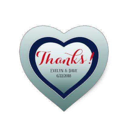 Elegant thank you couples custom texts cc0983 heart sticker sticker stickers custom unique cool diy