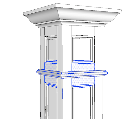 12 Square Extension For 8 Column Trim Pinterest