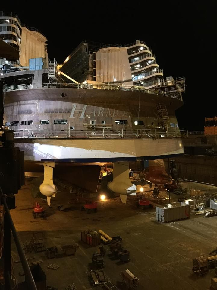 May 22 2015 - Harmony of the Seas aft end taking shape.