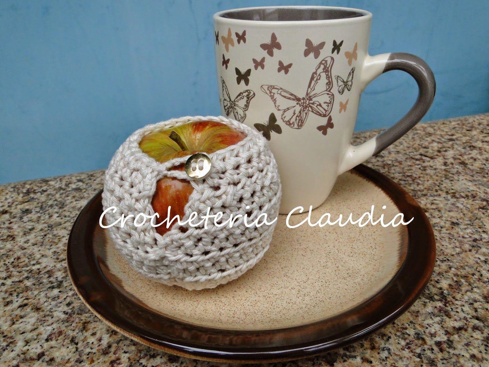 Crocheteria   Claudia: Maçã para o lanche?