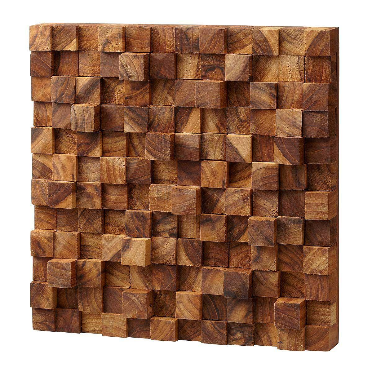 Wood Wall Art Square Takara Wall Art  Shelves Teak Wood And Walls