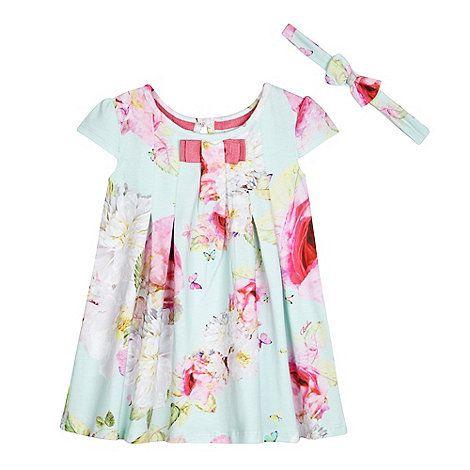 043405eec21262 Baker by Ted Baker Girls  light green floral print dress and headband set