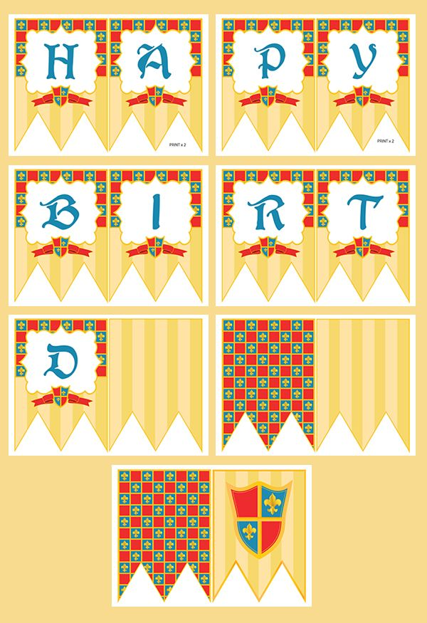 printable templates castle theme bunting, castle party ideas | all