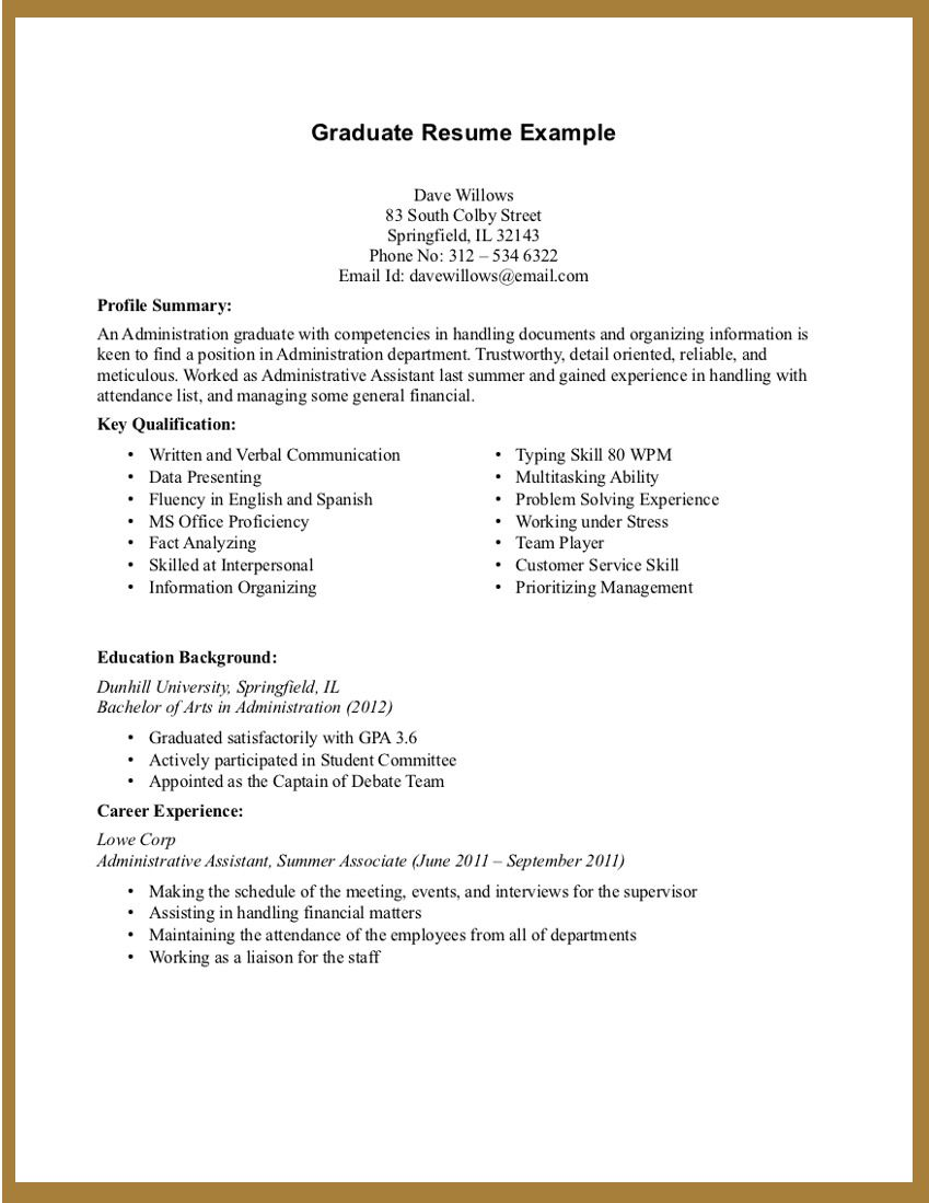 Superb Resume Hrm Student Sample For Ojt Experience Template Design