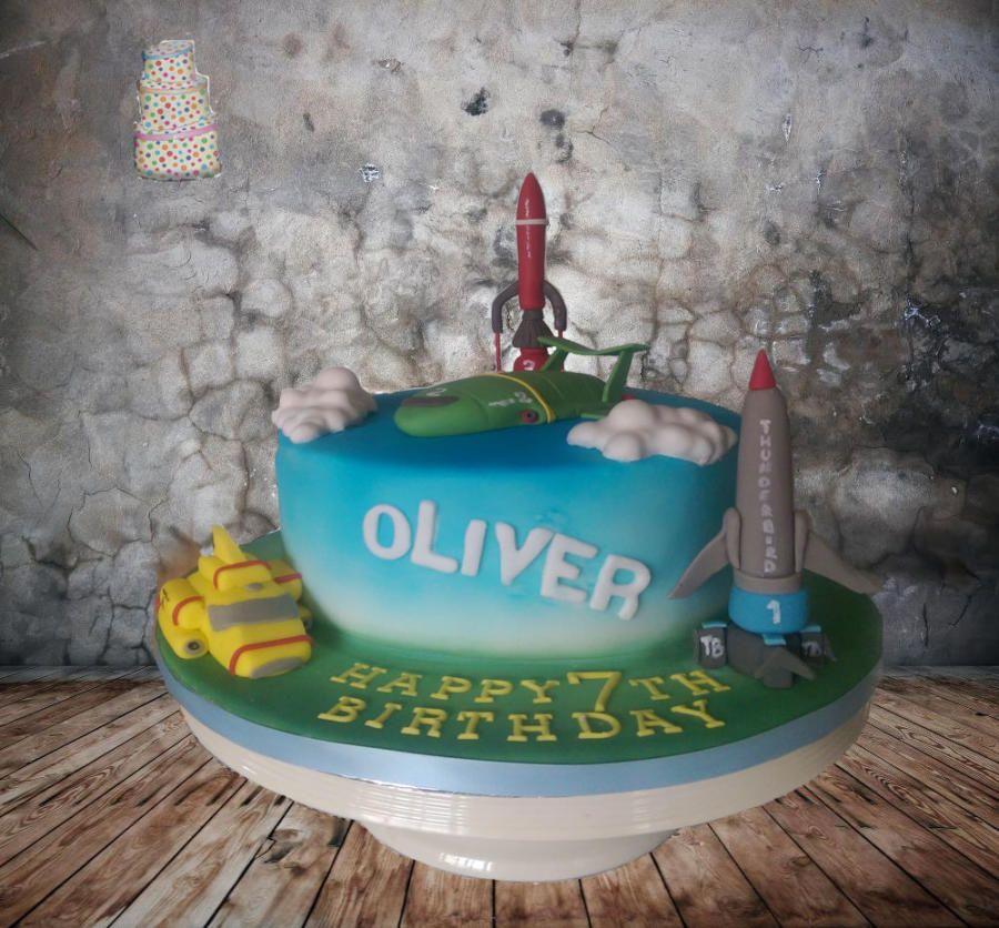 thunderbirds cake by Shell at Spotty Cake Tin Cakes Cake
