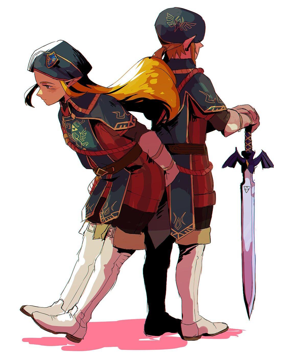 Royal Guard Link and Royal Guard Zelda | Video game stuff
