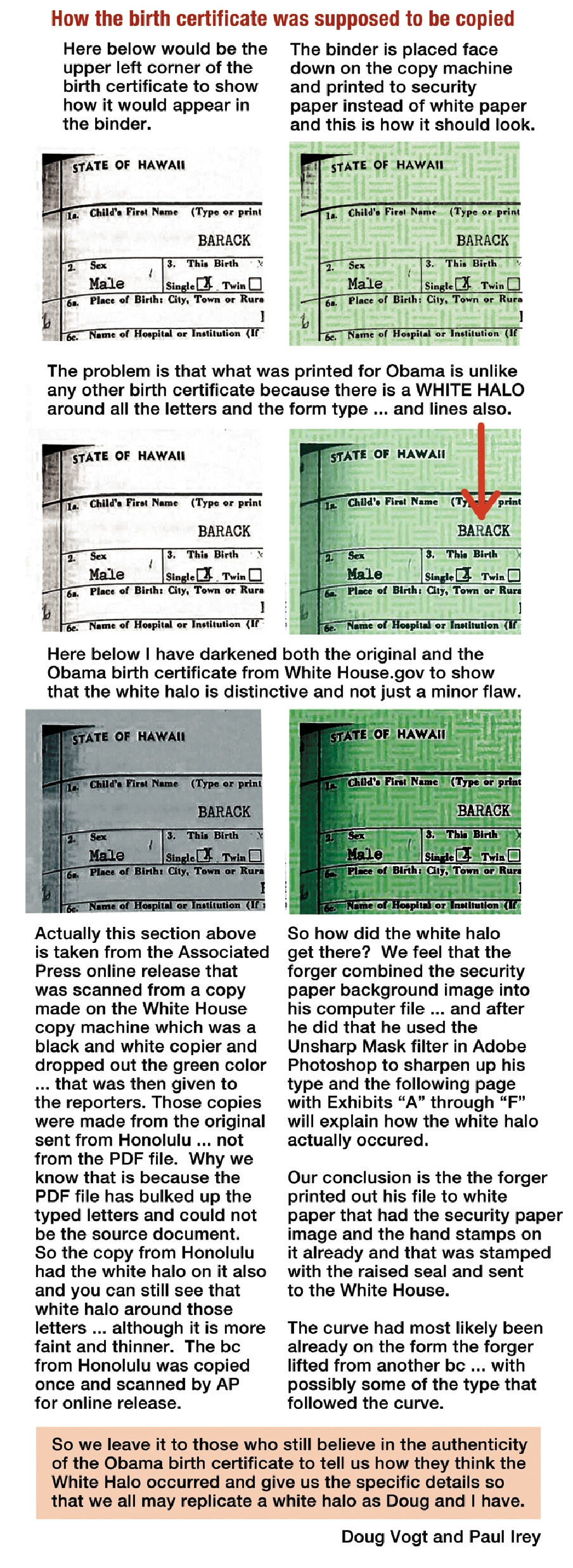Presentation of evidence of obama bc forgery the american presentation of evidence of obama bc forgery the american typewriter obamas typed long form birth certificatetype aiddatafo Choice Image