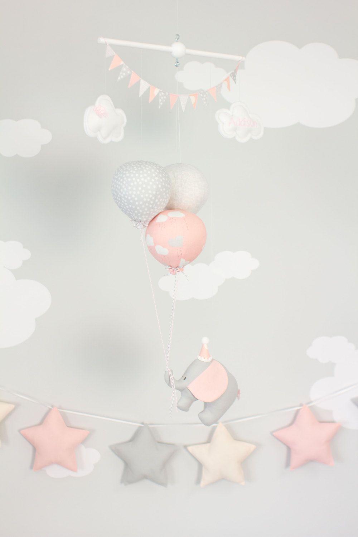 Elefante rosa beb m vil decoraci n de cuarto de ni os - Decoracion bebe nina ...