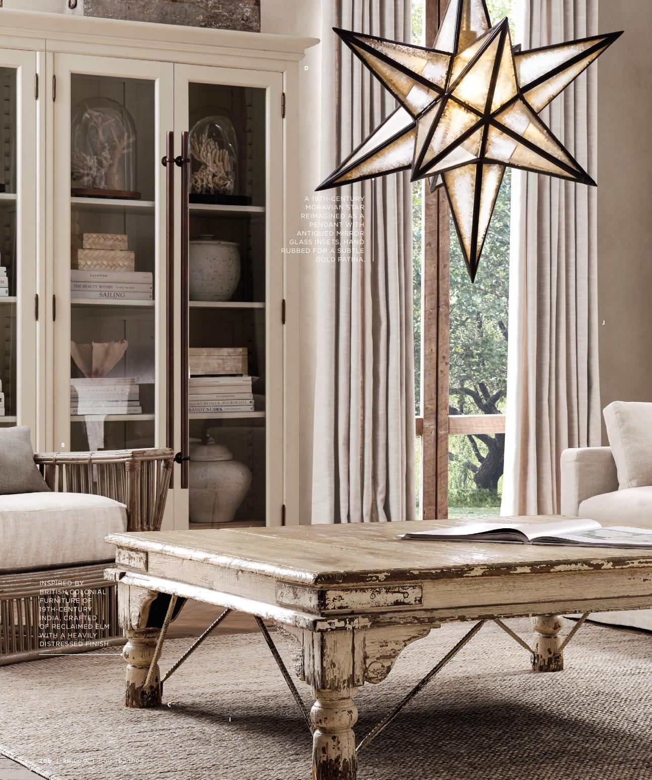 Rh star pendant light light fixtures pinterest living rooms