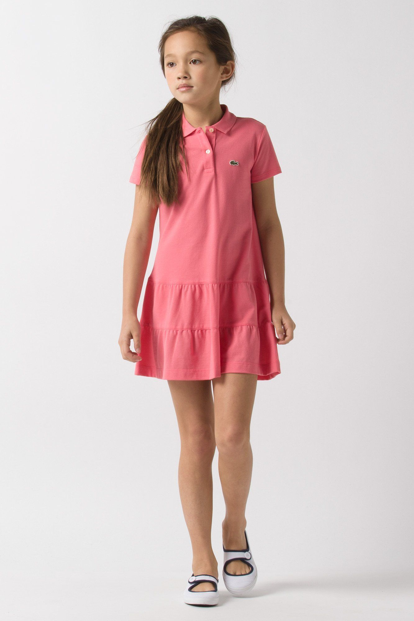 500044e7d Cutest little girl in a  perfect  lacoste  pink dress for  her ...