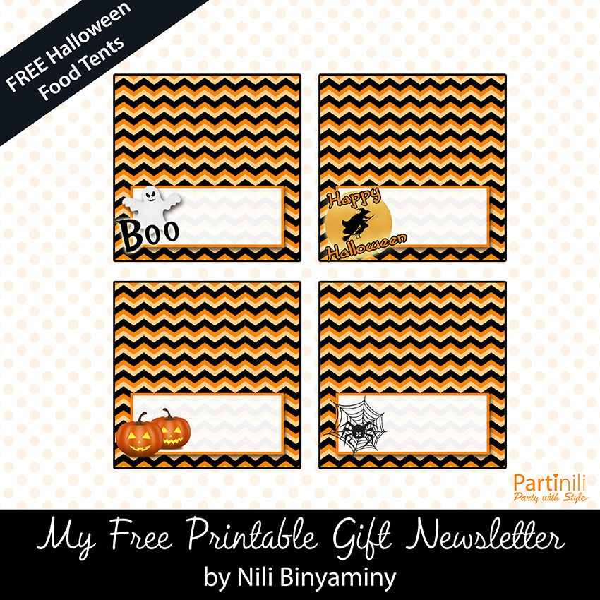 Free Printable Halloween Place Food Tents Cards Halloween Printables Free Printable Holiday Cards Printable Holiday Card