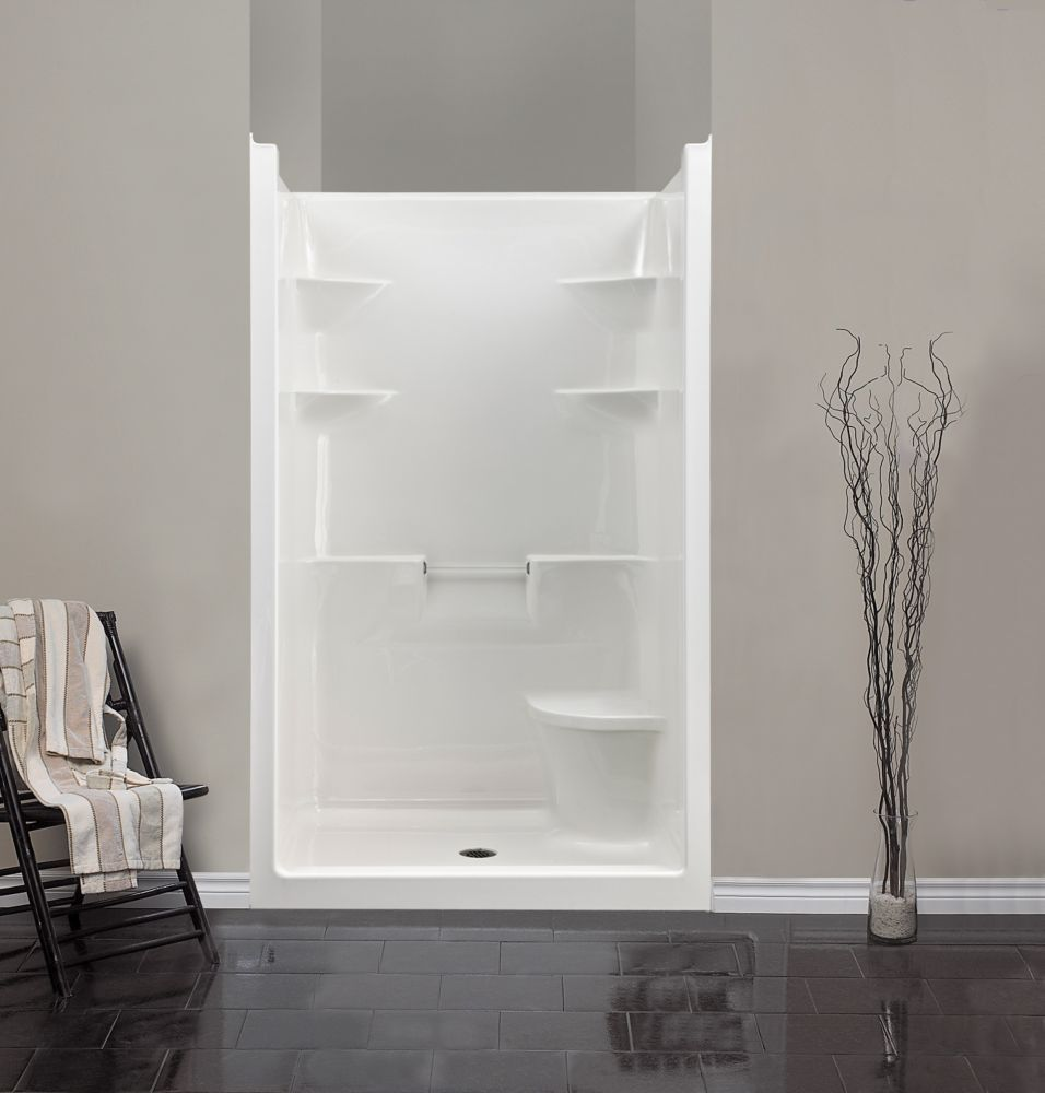 Melrose 4 1 Piece Acrylic Shower Stall With Seat One