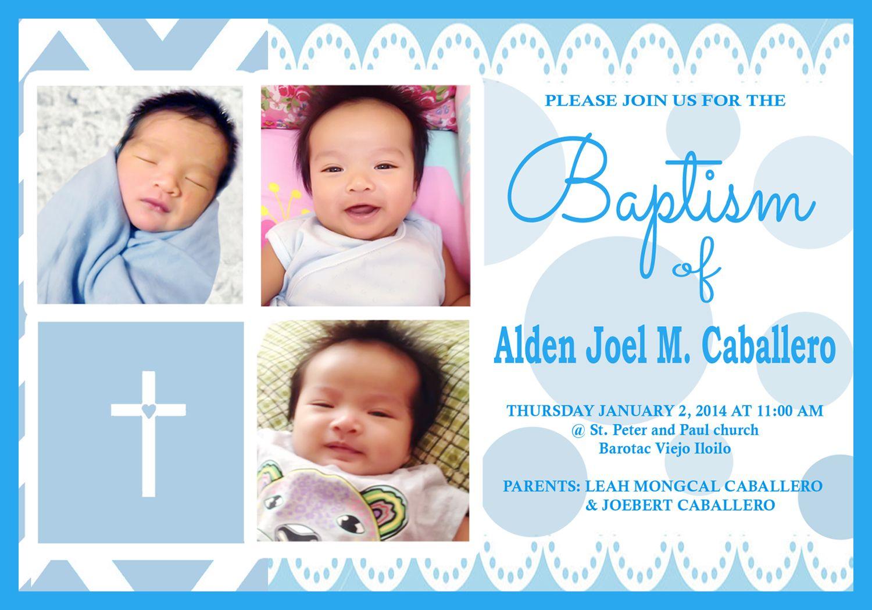 3r Size Invitation C Alden Baptism Christening