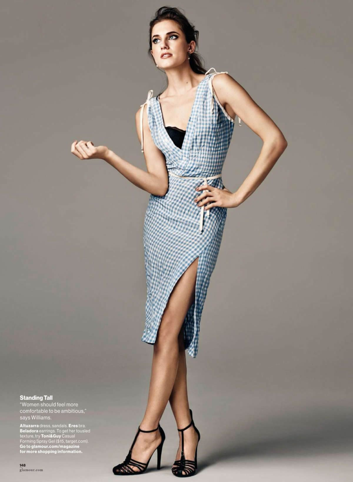 bb307273ce7 Allison Williams by Steven Pan for Glamour US February 2015 ...