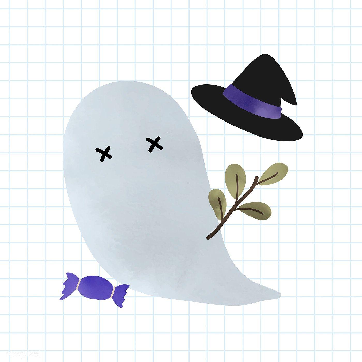 Download premium vector of Cute ghost Halloween design