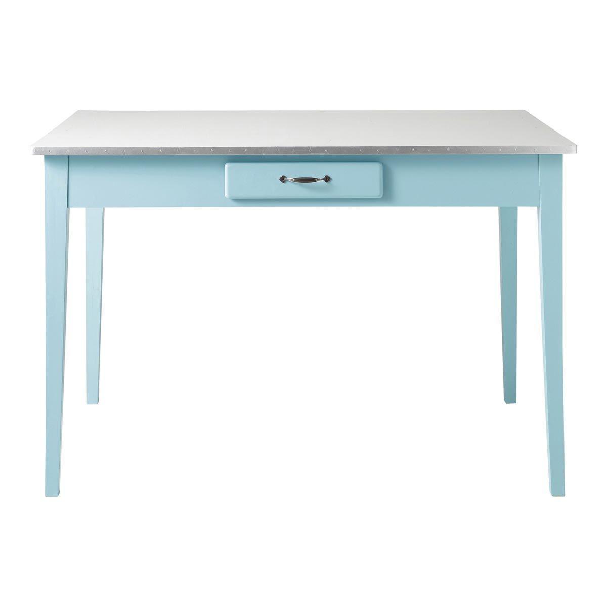 Tavolo blu per sala da pranzo in legno L 120 cm Kitchen | cucina ...