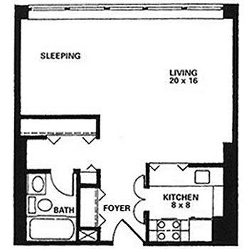 400 sq ft apartment floor plan - Google Search | 400 sq ft floorplan ...