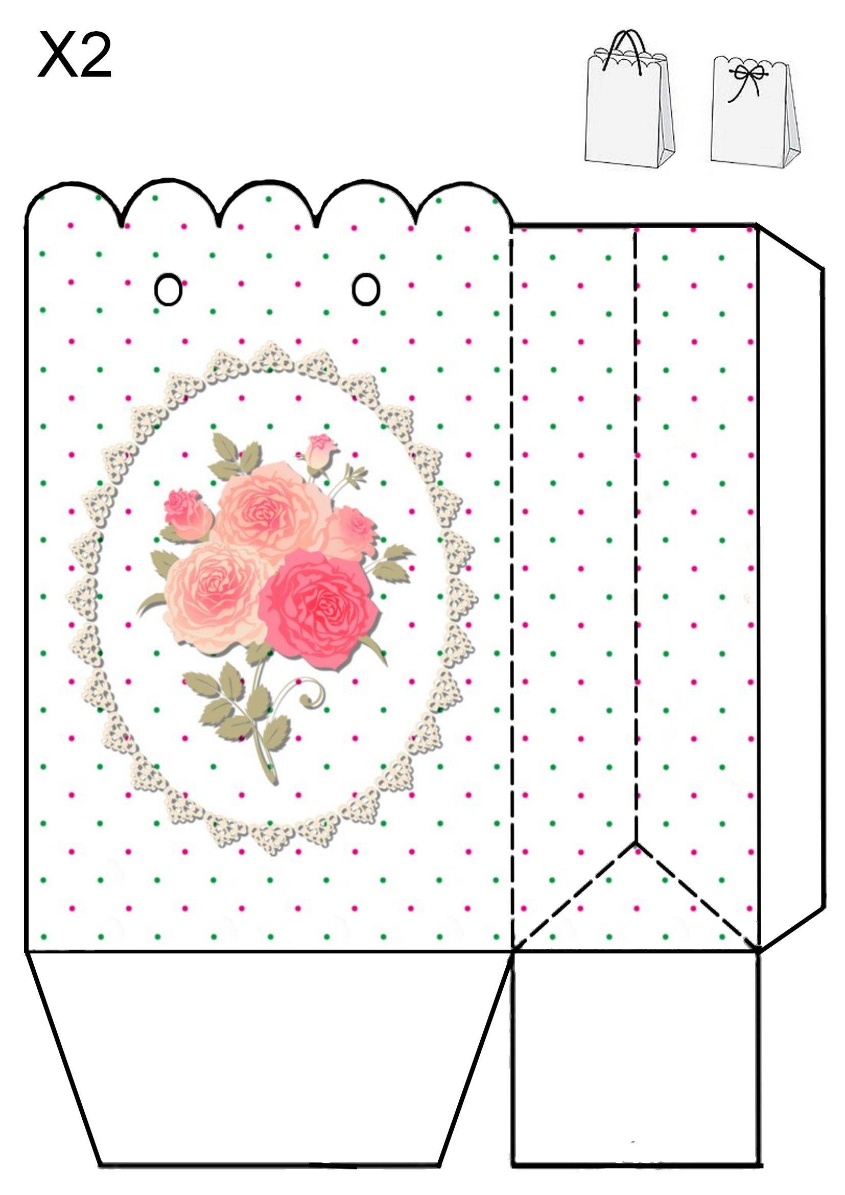 Картинка шаблон коробочка