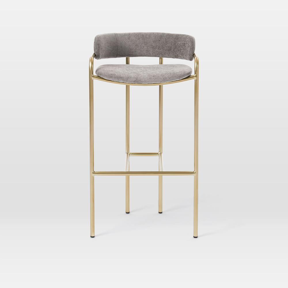 Lenox velvet bar counter stools