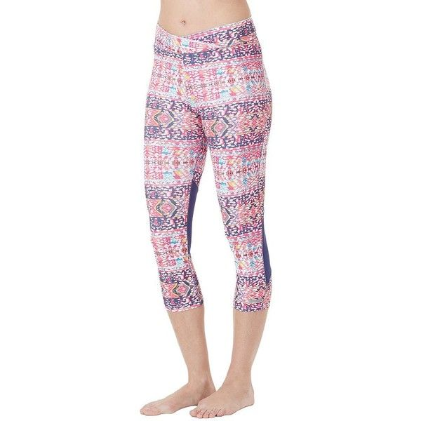 Women's Cuddl Duds SportLayer Mesh Workout Leggings featuring polyvore,  women's fashion, clothing, activewear
