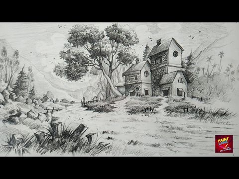 How To Draw And Shade A Simple Landscape For Beginners With Pencil Youtube Landscape Pencil Drawings Landscape Drawing Easy Landscape Drawings
