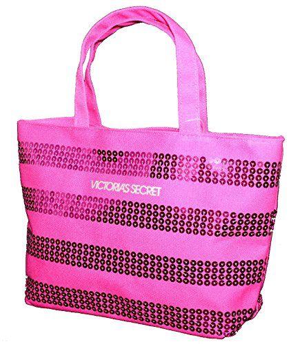 65c353b1ed2550 Victoria s Secret MINI Pink Stripes Sequined Tote Bag