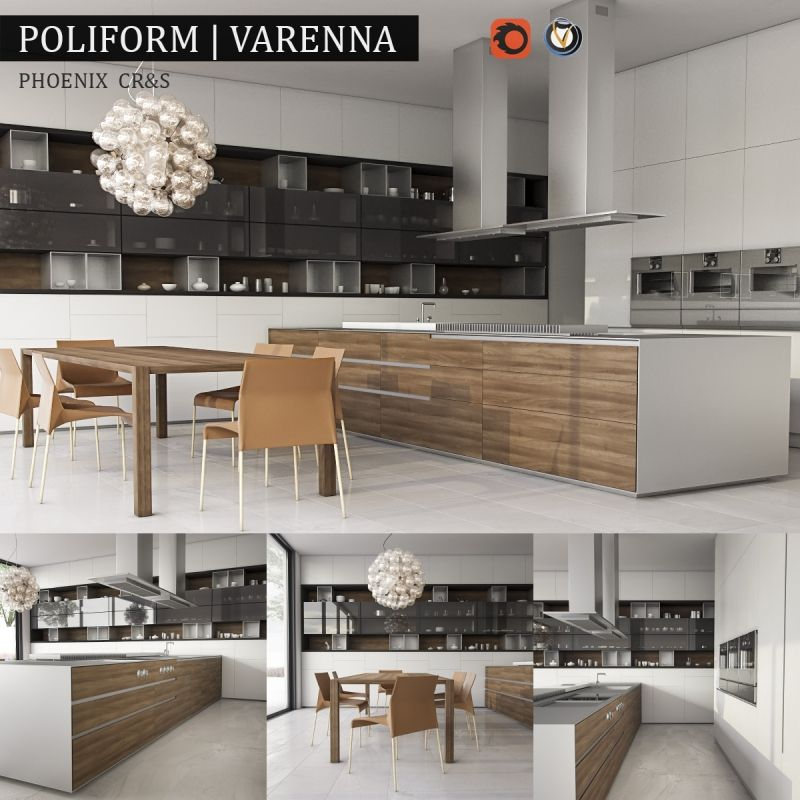 Kitchen varenna phoenix model available on turbo squid the worlds leading provider of digital models for visualization films television and games