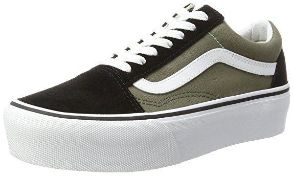 Chaussures Skool Vert Femme Platform Running Vans De Old Compensée PA4WBa6q