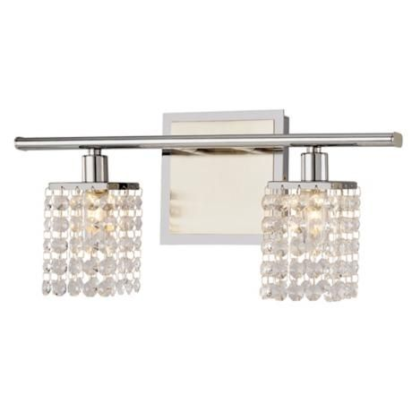 "Sparkle Collection 15 1/4"" Wide Bathroom Light Fixture"
