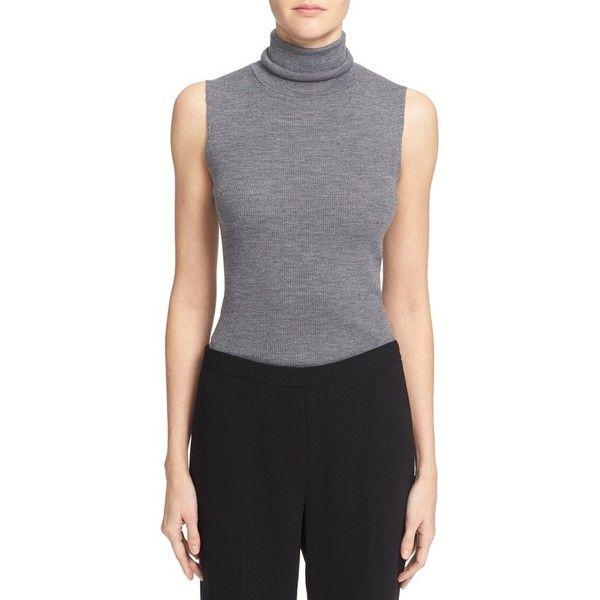 20cffa86489b2 Women s Theory  Leenda  Sleeveless Merino Wool Turtleneck Shell ( 170) ❤  liked on Polyvore featuring tops