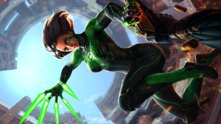 Green Lantern Girl Dc Comics Girl Wallpaper C 243 Mics