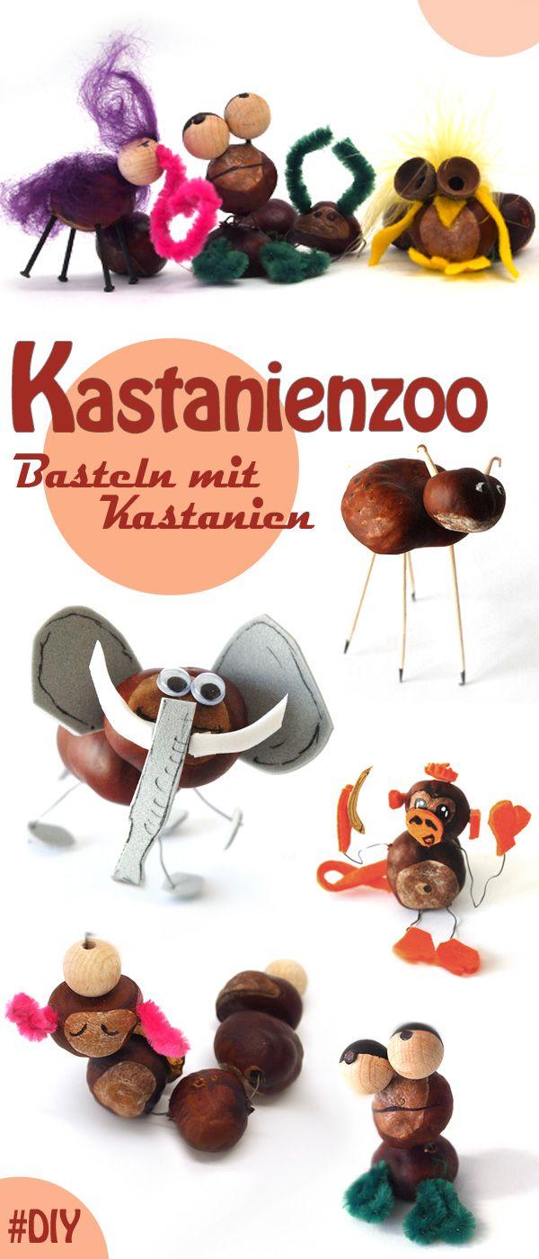 Basteln mit Kastanien: Ideen für lustige Figuren | Kindergarten ...
