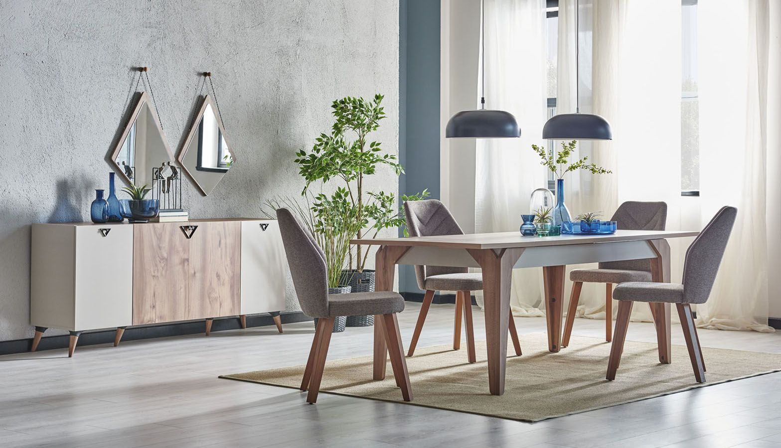 سفرة مودرن Polygon In 2020 Modern Dining Room Home Decor Modern Dining