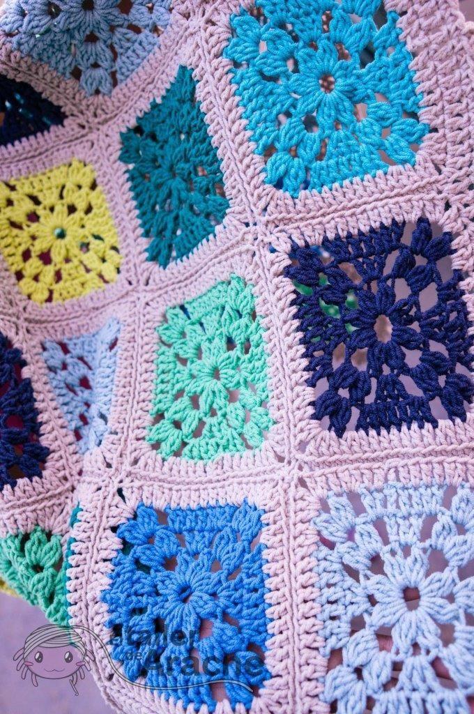 Manta Mar de Flores - Patrón gratis crochet | Crochet blanket ...