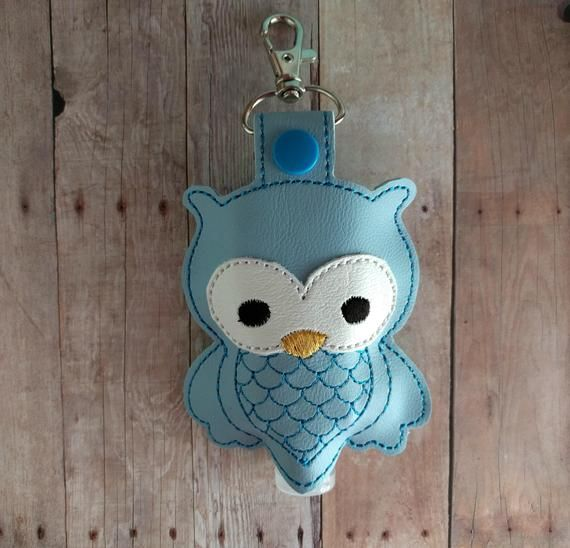 Clearance Owl Hand Sanitizer Holder Embroidered Vinyl In Choice